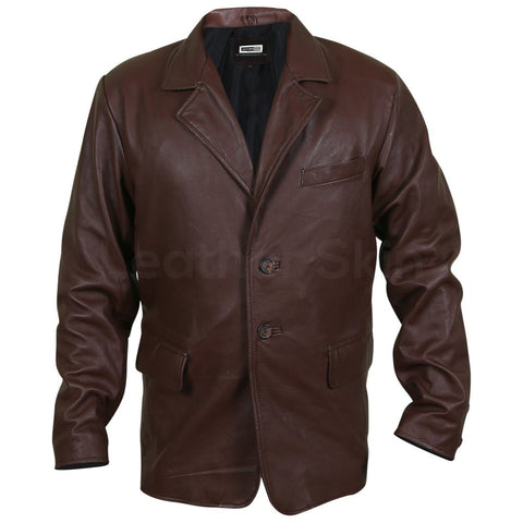 Men-Brown-Genuine-Leather-Coat-with-Plain-Lining