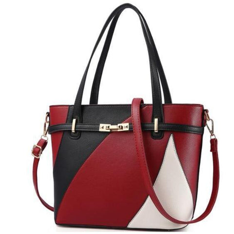 Tote Red Leather Bag