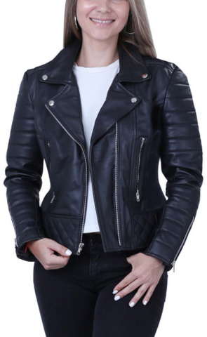 Women's Ebony Quilted Leather Jacket