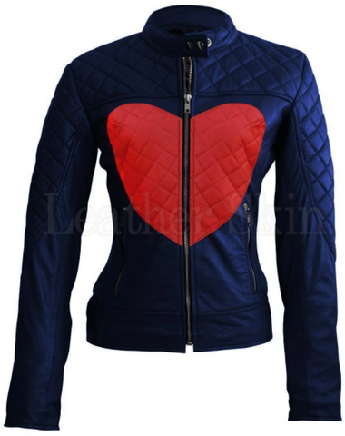 Women's Quilted Leather Jacket
