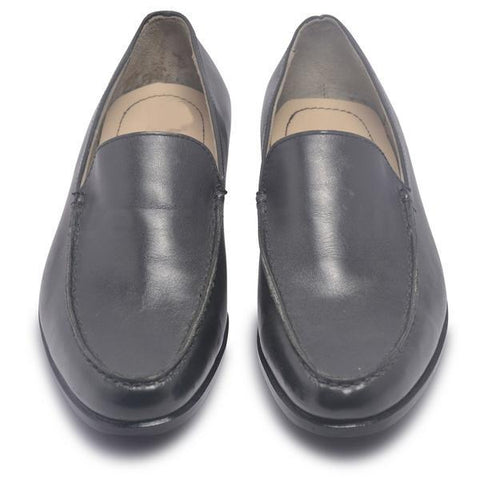 Mens Black Slip On Loafer Leather Shoes