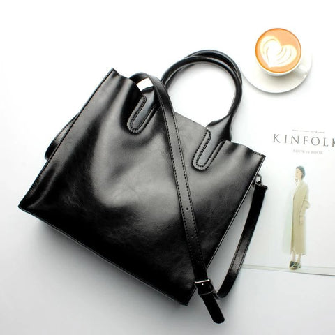 Women Tote Crossbody Messenger Genuine Leather Bag