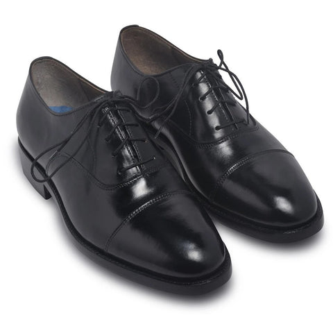 Men Black Oxford Formal Genuine Leather Shoes