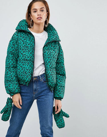 printed puffy jacket