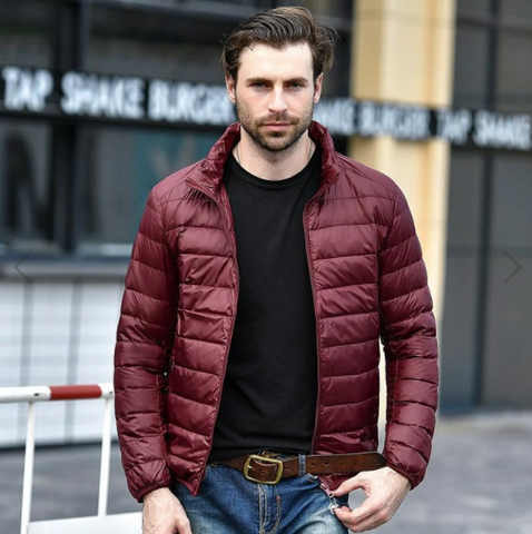 mens maroon jacket