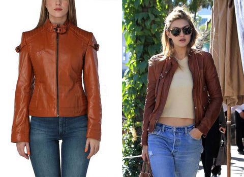 brown leather jacket styles
