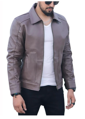 mens cedar leather jacket
