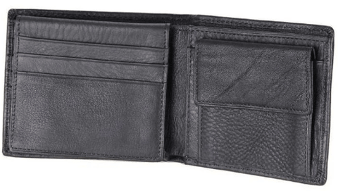 Men Genuine Leather Wallet With Coin And Card Pockets