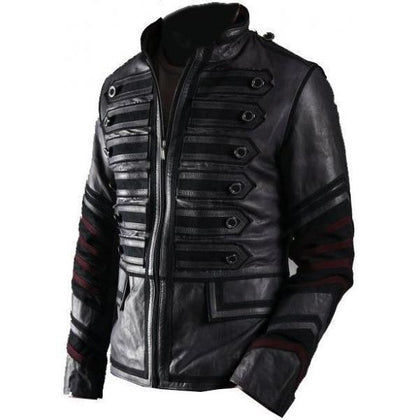Leather Skin Men Black Military Fashion Premium Genuine Real Leather Jacket