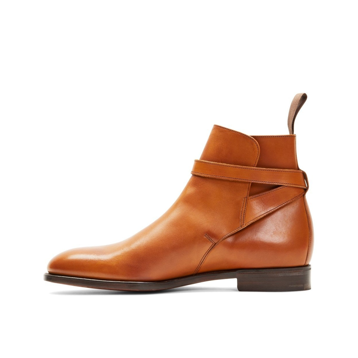 Men Brown Single Monk Genuine Leather Boots