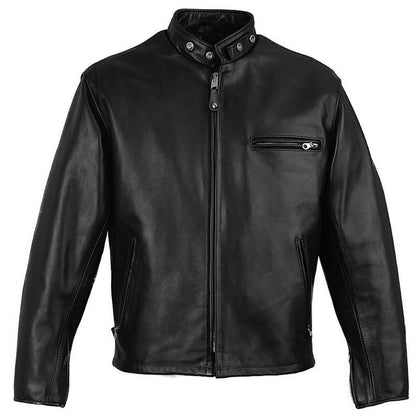 Leather Skin Men Black Stylish Genuine Leather Jacket