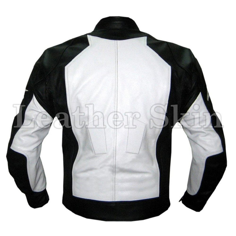 Black Motorcycle Biker Racing Premium Genuine Real Pure Leather Jacket