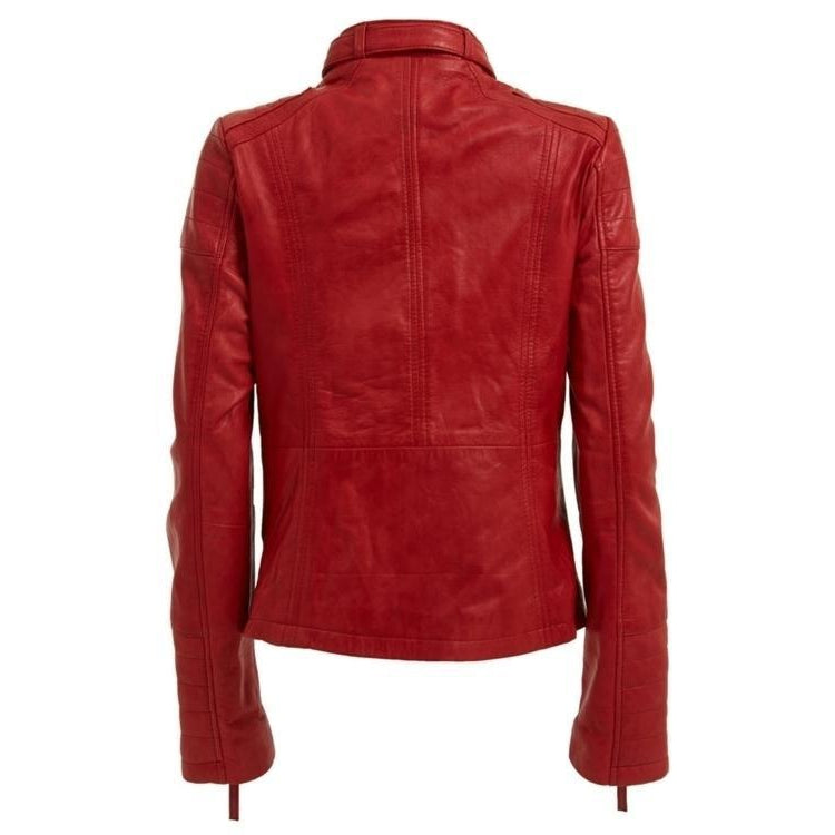 Leather Skin Women Red High Quality Premium Leather Jacket