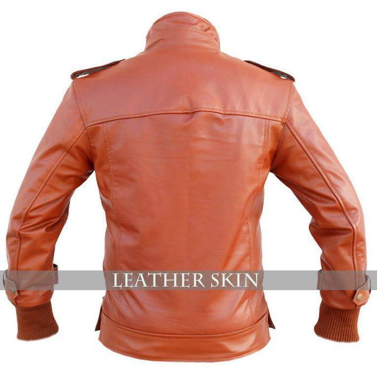 Leather Skin Men Maroon Red Genuine Leather Jacket