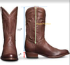 Men Brown Leather Boots - Custom