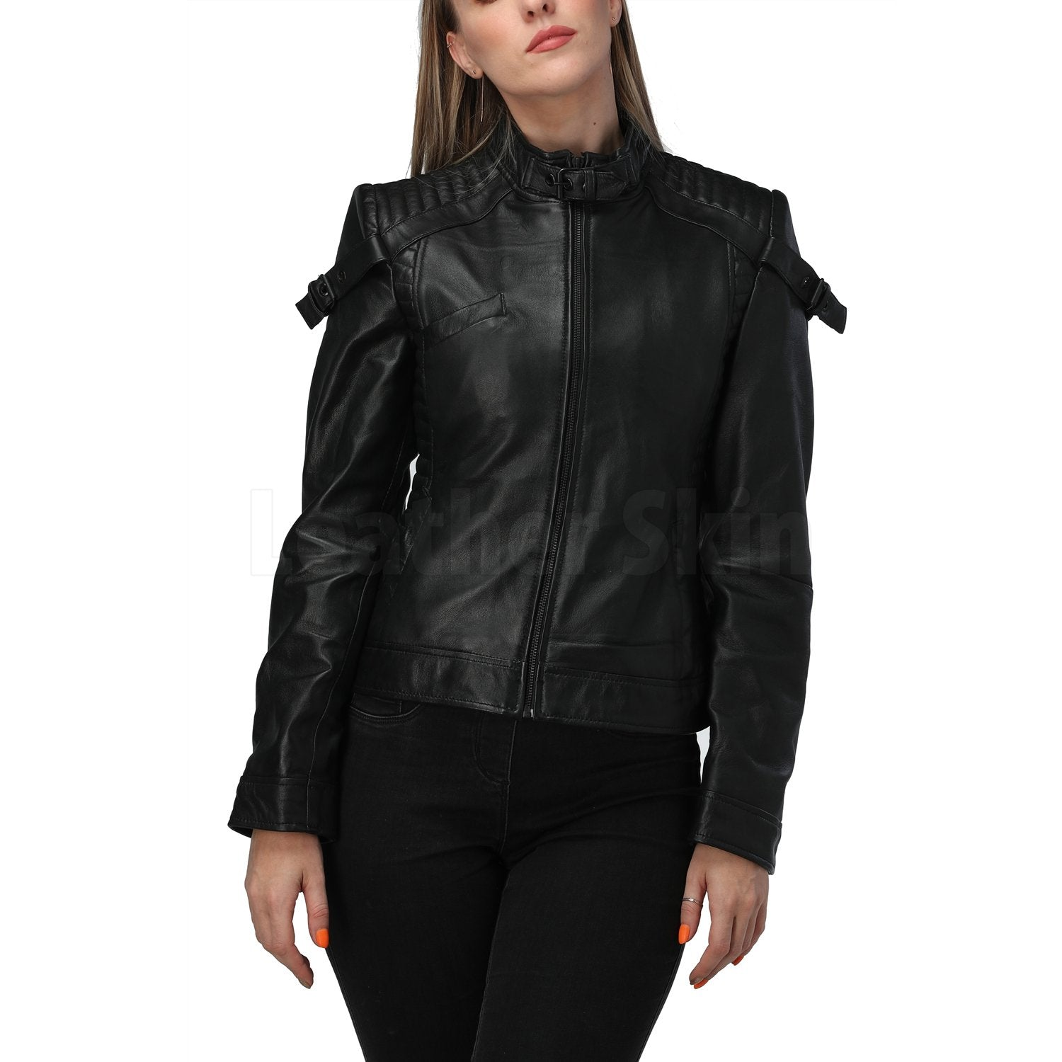 Katniss Black Quilted Leather Jacket