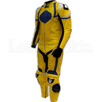 Yellow Biker Genuine Leather Suit for Men