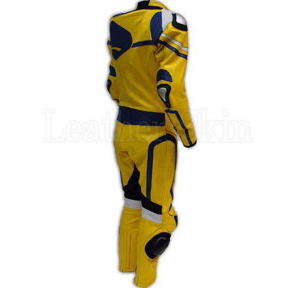 Leather Suit for Men Racing in Yellow Color