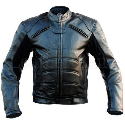 Leather Skin Black Padded Costume Genuine Biker Motorcycle Genuine Leather Jacket