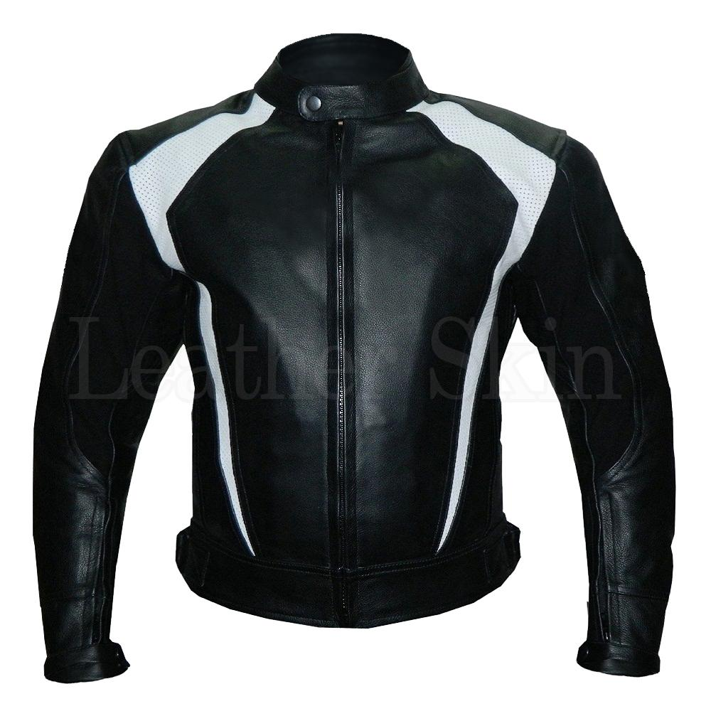 Leather Skin Black Motorcycle Biker Racing Premium Genuine Real Leather Jacket