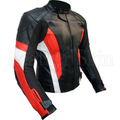 Men Black Biker Genuine Leather Jacket