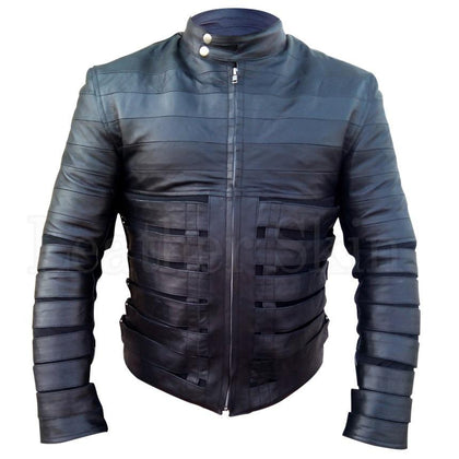 Ricky Martin Men Black Leather Jacket