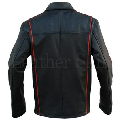 Black Real Leather Jacket for Men