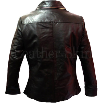Real Leather Jacket for Men with Front Pockets (Back)