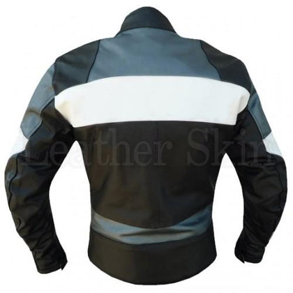Biker Leather jacket for Men in Black Color (Back)
