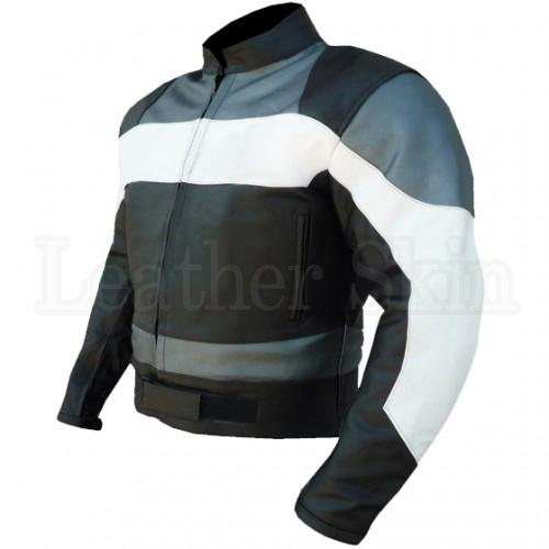 Black Leather Jacket for Racking with Stripes