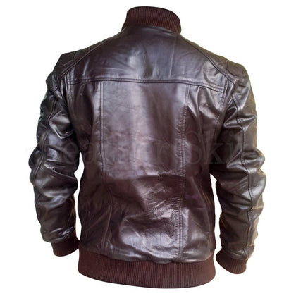 Real Brown Real Leather for Men with Elastic Bottom (Back)
