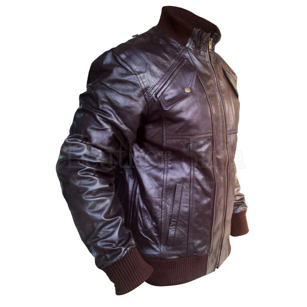 Real Leather jacket for Men in Brown Color with Stretch Bottom