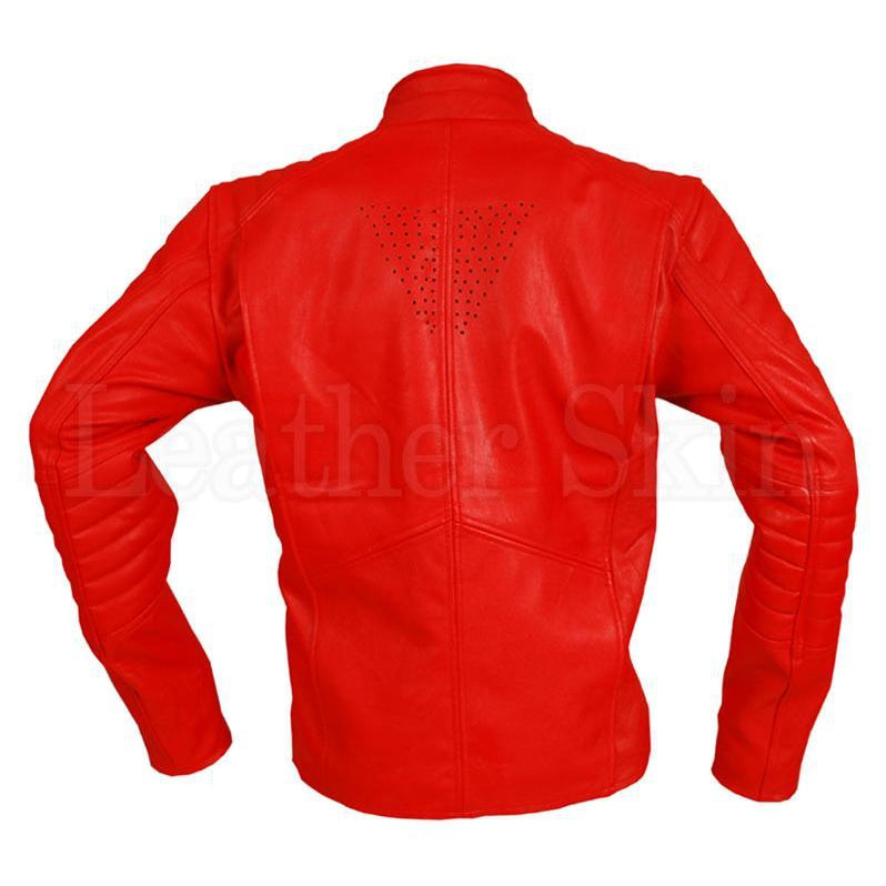 Men Red Leather Jacket Costume