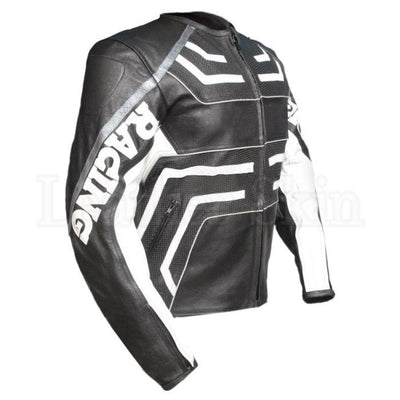 Racing Genuine Leather Jacket for Motorcycle