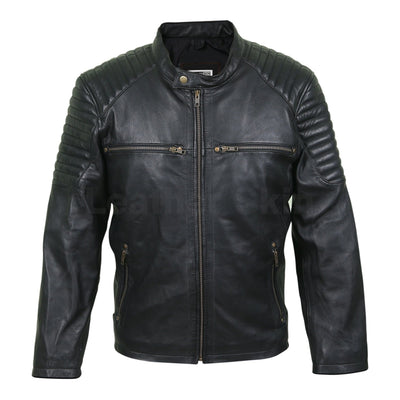 quilted shoulders jacket mens