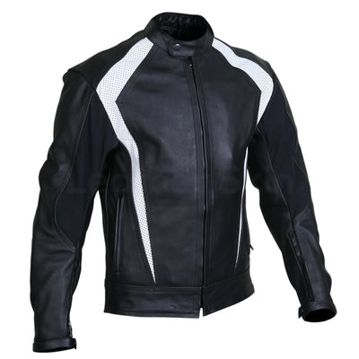 black motorcycle jacket with perforation