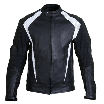 black jacket with white stripes mens