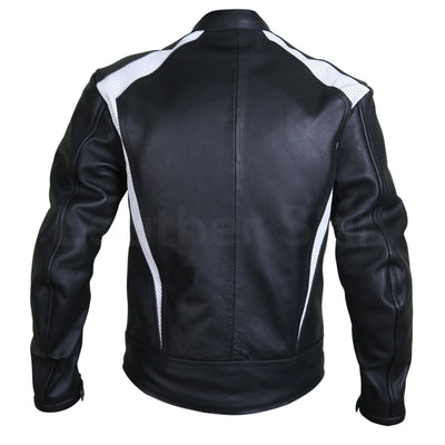 back of motorcycle leather jacket black mens