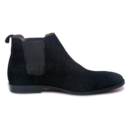 chelsea leather boots for men
