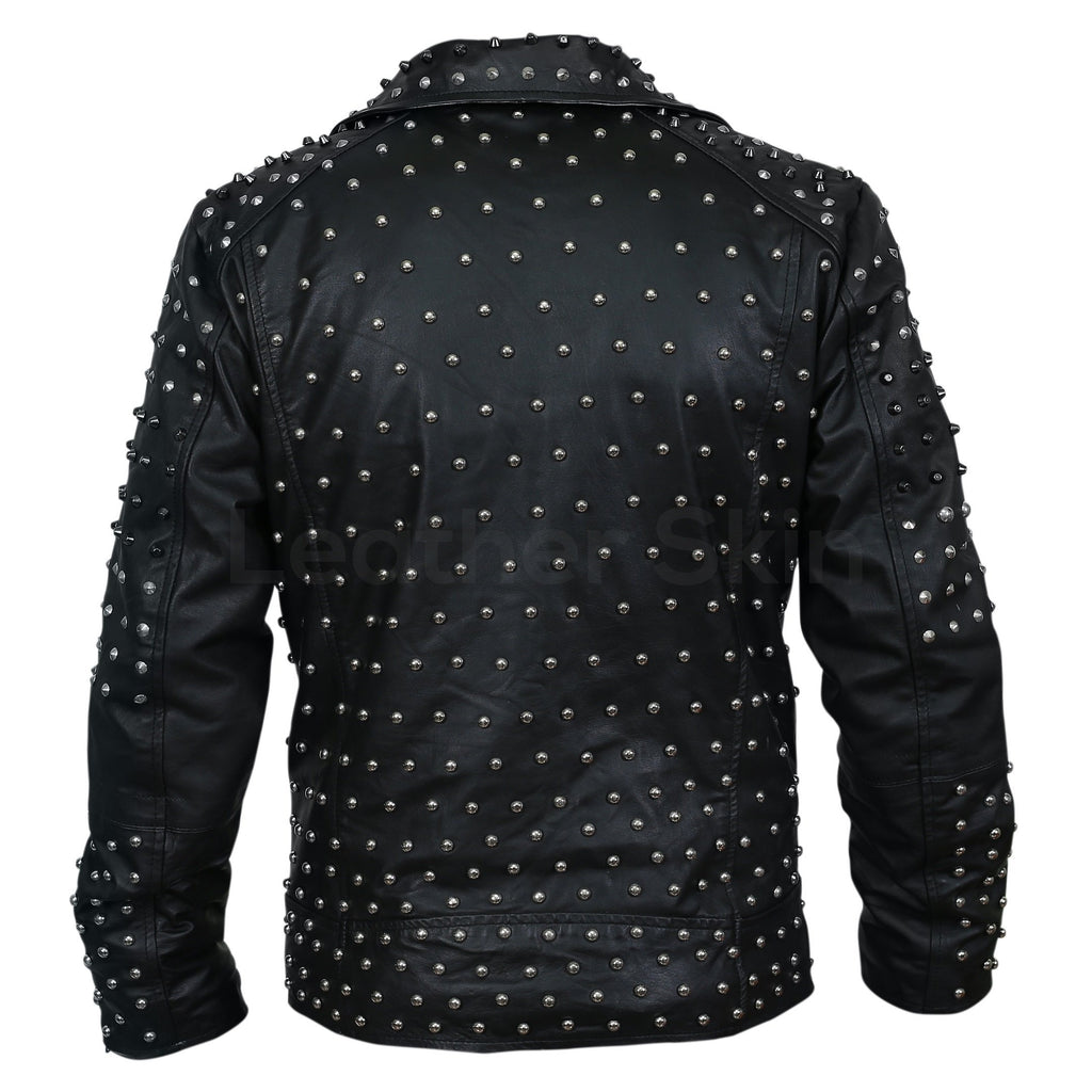punk leather jacket mens