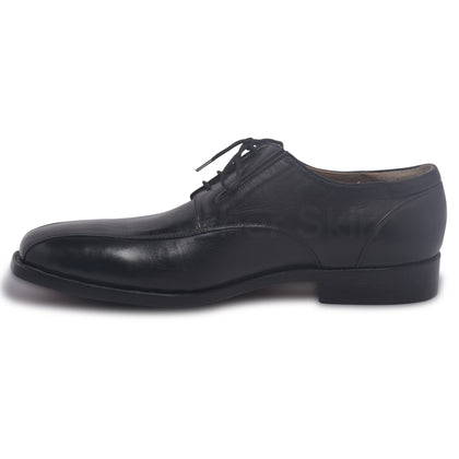 mens black derby genuine leather shoes