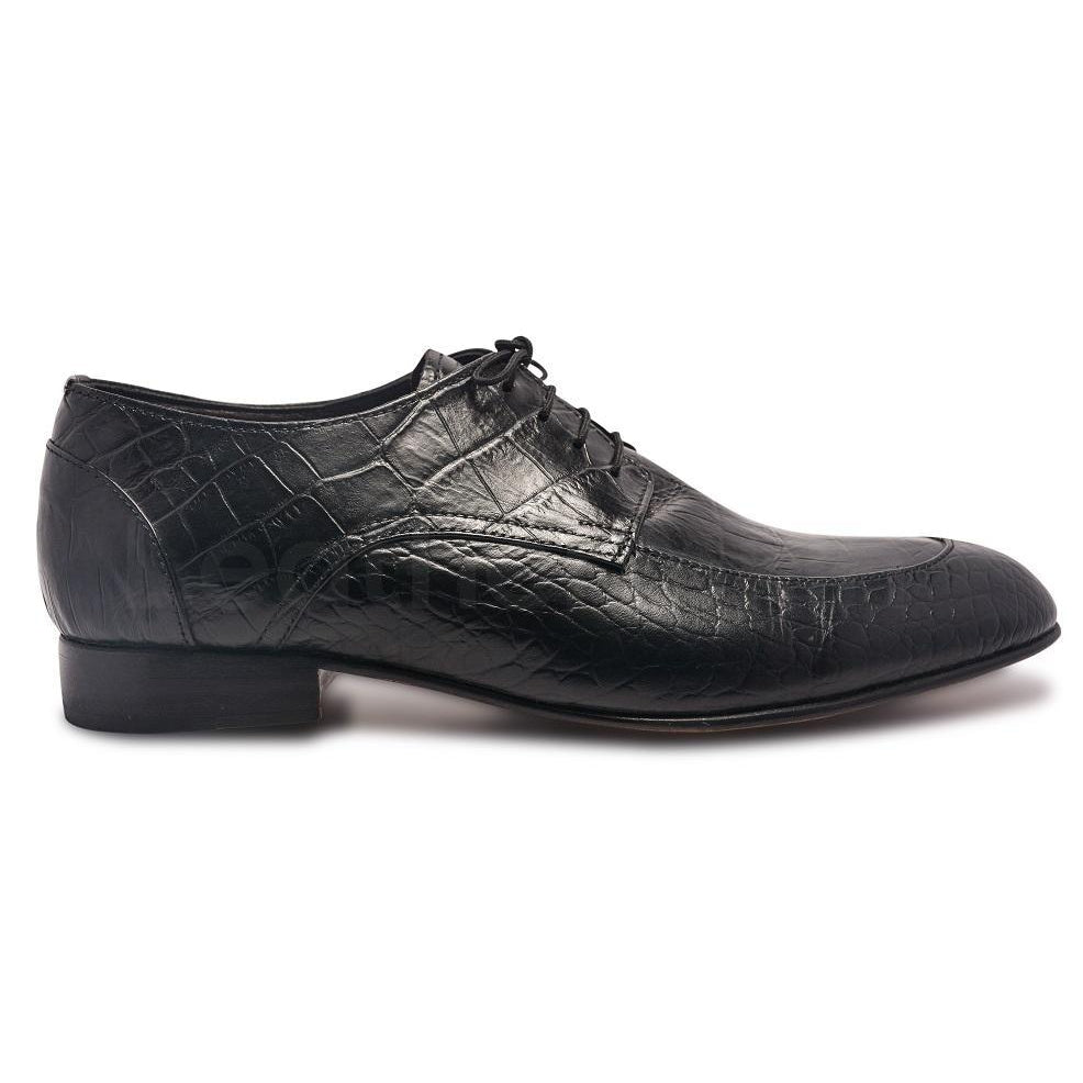 Men Leather Shoes with Crocodile Pattern