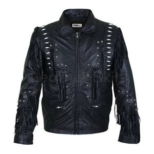 mens spike jacket with beads