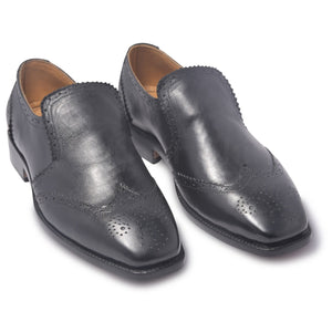 mens brogue shoes in black