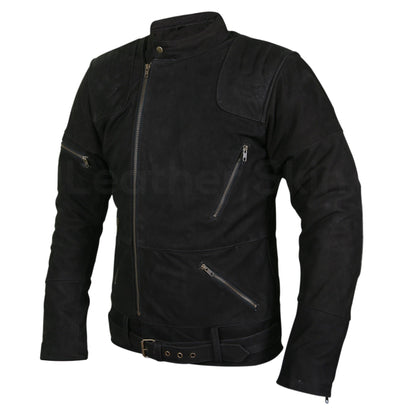 suede leather jacket brando style mens