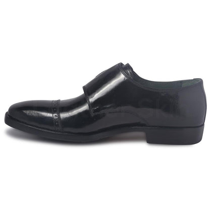 men monk leather shoes