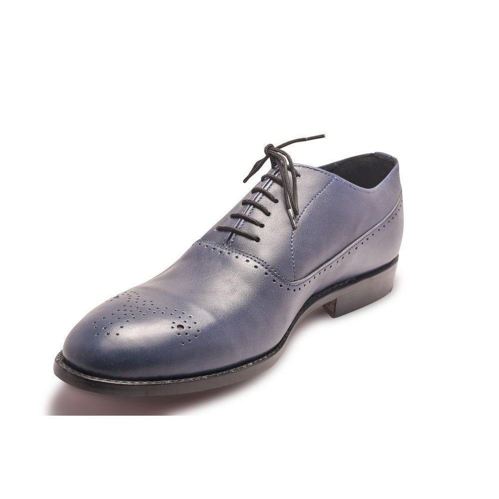 Blue Oxford Leather Shoes