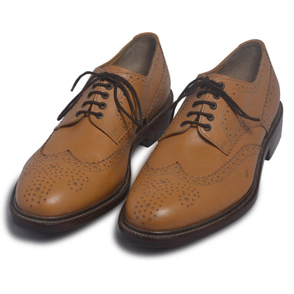 mens wingtip leather shoes derby