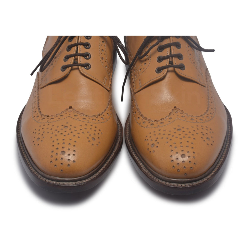 toe for tan wingtip brogue shoes
