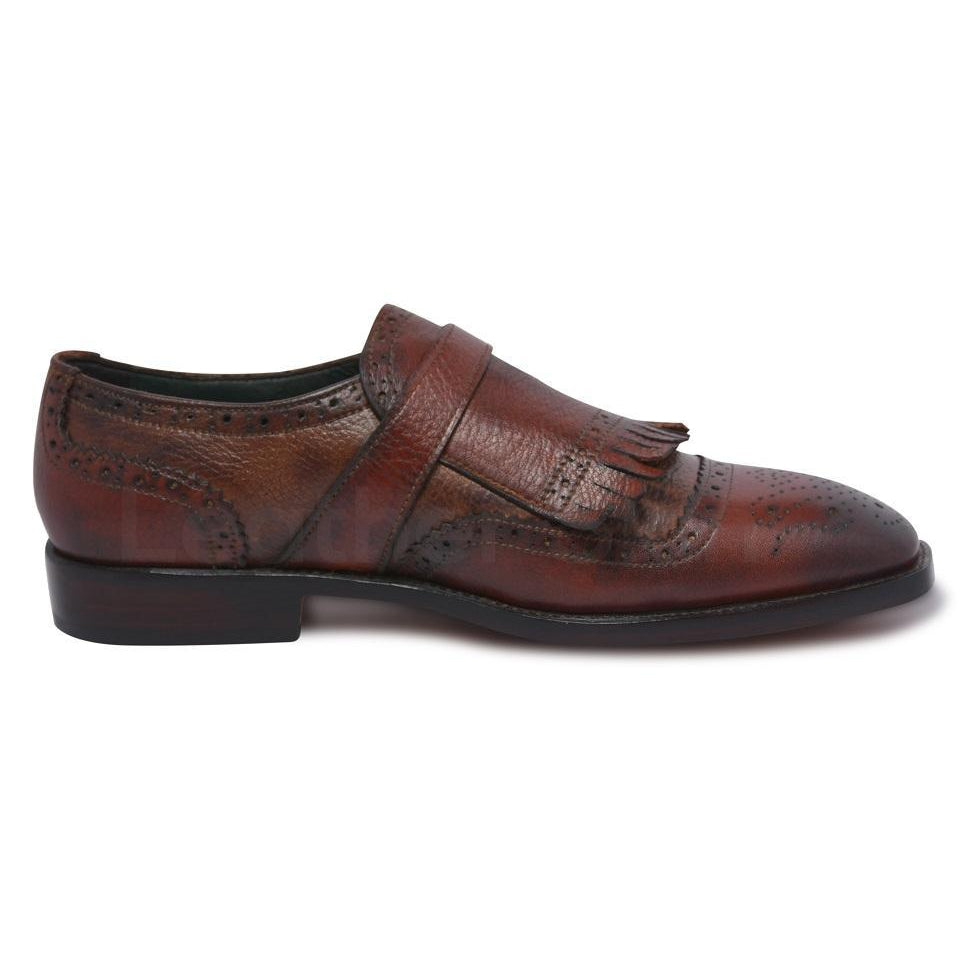men leather shoes with fringes